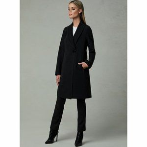 MELANIE LYNE Faux Wool Single Button Coat XL